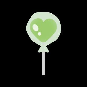 バレンタイン ハート飴(緑)