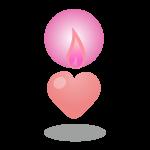 バレンタイン ハートのキャンドル(ピンク)