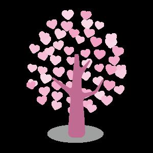バレンタイン ハートの木