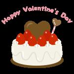 バレンタイン ハートのケーキ(生クリーム)