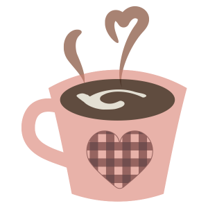 バレンタイン ハートのマグカップ