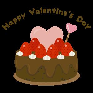 バレンタイン ハートのケーキ(チョコ)