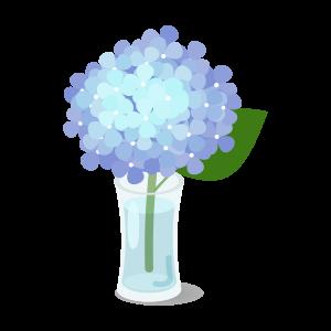 紫陽花の一輪挿し(ブルー)