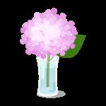 紫陽花の一輪挿し(ピンク)