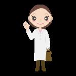 往診・訪問診療02(女性の先生)